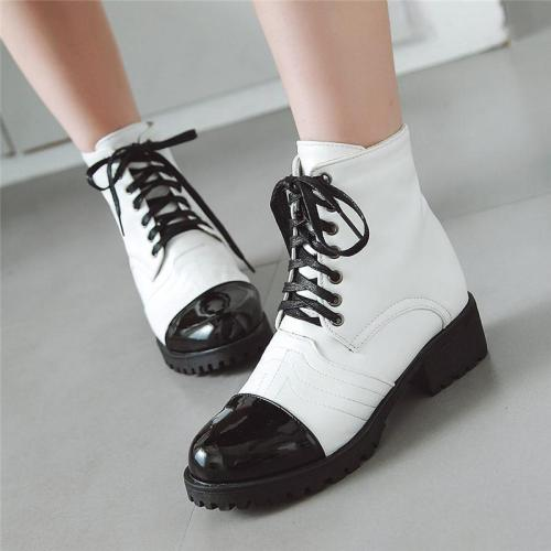 Women's New Stitching Low Heel Short Boots