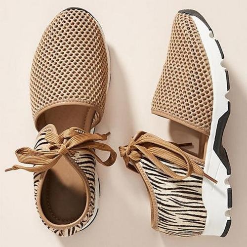 New Women Flats Spring Summer Ladies Mesh Flat Shoes Women Soft Breathable Sneakers Women Casual Shoes