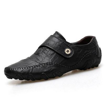 Men Casual Shoes Fashion Men Shoes Genuine Leather Men Loafers Slip on Men's Flats Driving Shoes