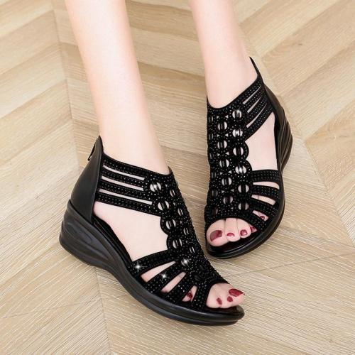 Mid Heel Casual Women's Shoes  Women's Sandals Slope Heel Fashion Wedges