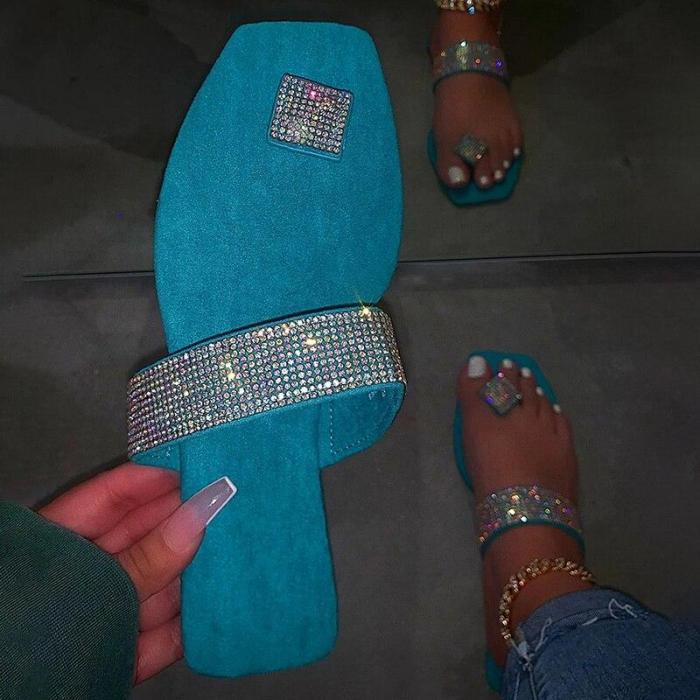 Women Slippers Bling Flip Flops Female Sandals Outdoor Beach Slides Flat Summer Shoes