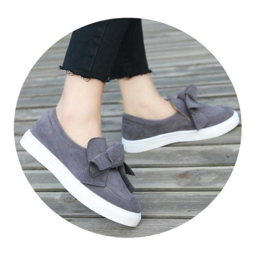 Women's Bow Canvas Flat lazy Shoes Soft Bottom