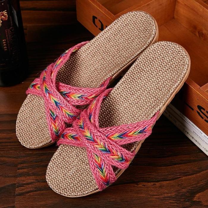 Women Indoor Slippers Home Slides Summer Flat Shoes House Floor Slippers
