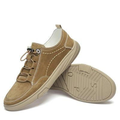 Man Shoe Suede Leather Men's Sneakers Leisure Shoe Walking Footwear Elastic Band