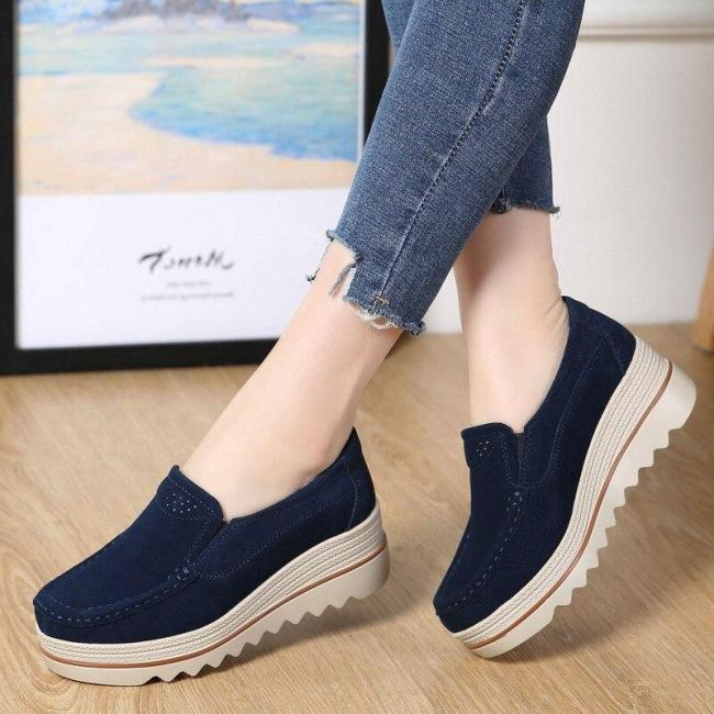 Women Flats Plus Size Platform Flat Spring Casual Women Sneaker Shoes Slip On Moccasins Ladies Shoes