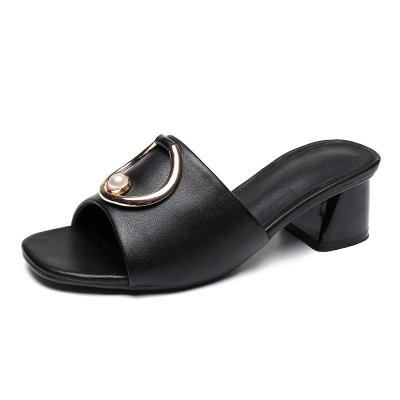 Sandals For Women in Summer Fashion Chunky Heel