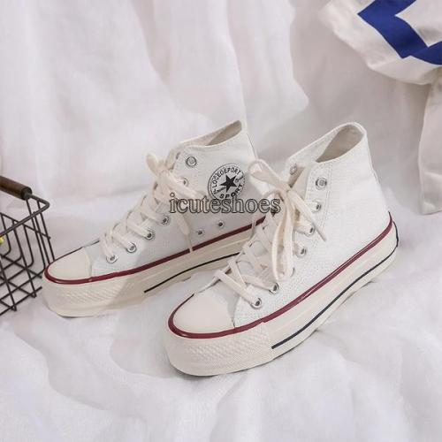 2020 Summer New White Canvas Women's Shoes Summer Shoes Flats