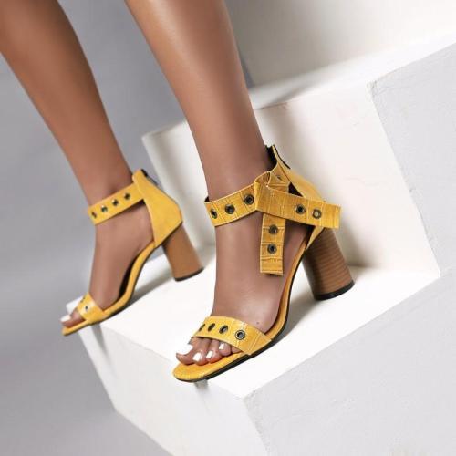 High Heels Female 2020 Summer New Zipper Roman Sandals Female