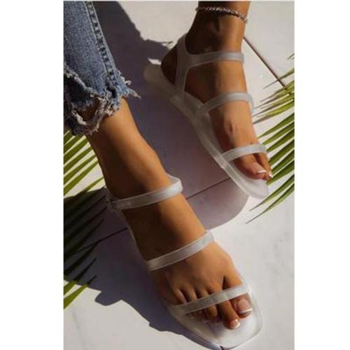 2020 Summer New Woman's Flat Sandals Open Toe Sexy Fashion Outdoor Beach Shoes Comfortable Leisure Plus Size 41
