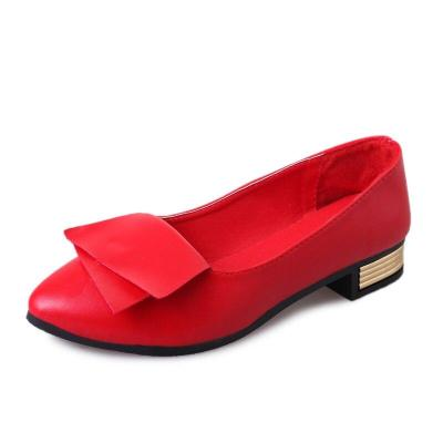 Casual Flats Women Shoes Loafers Pu Leather Elegant Low Heels Ballet Footwear Female Pointed Toe