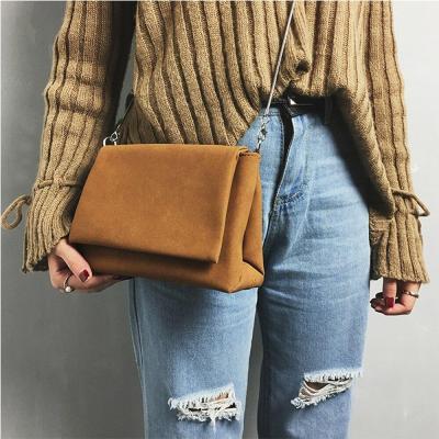 Fashion Frosted Style Hasp Handbag Crossbody Shoulder Woman Bag Messenger Bag