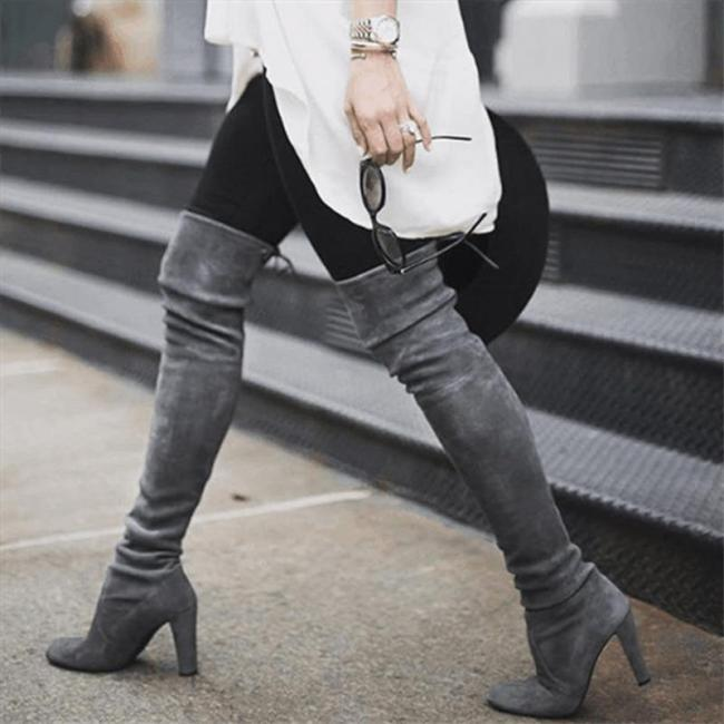 New New Shoes Women Boots Black Over The Knee Boots Sexy Female Autumn Winter Lady Thigh High Boots
