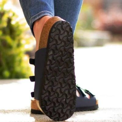 Summer Shoes Woman Outdoor Cross Sandals Mid-heel Soft Bottom Comfortable Sandals