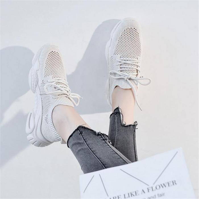 Summer Women's Sneakers Big Size Breathable Mesh Casual Shoes Women's Platform Wedge Vulcanized Shoes