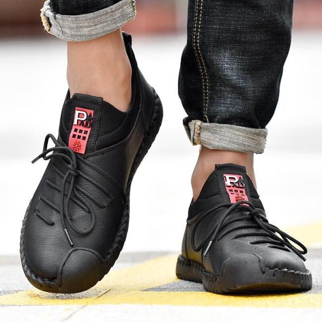 Comfortable Men's Shoes Leather Men's Casual Shoes Outdoor Non-slip Men's Moccasins Breathable Footwear