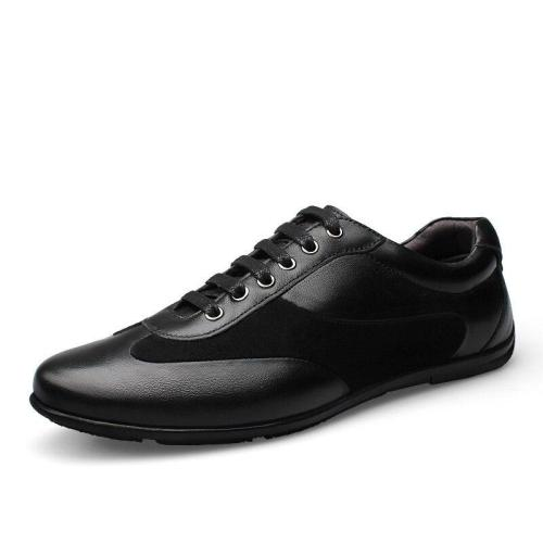 Man Leather Shoes Design Spring Summer Male Casual Shoe Genuine Leather Flats Men's Walking Footwear Big Size