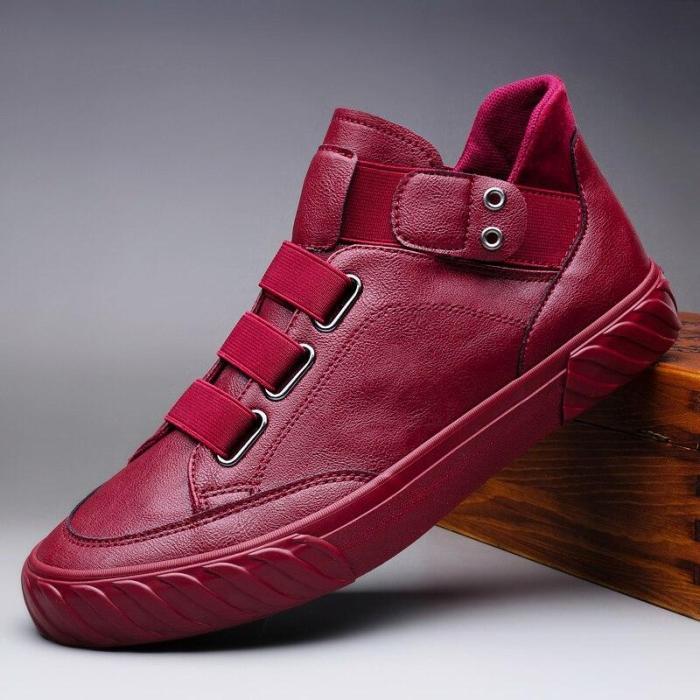 2020 New Autumn Men Buckle Boots Fashion Men's Casual Shoes Shoes England Joker Rubber Boot