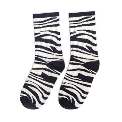 Japanese Women Girls Animal Stripes Milk Cow Printed Long Crew Socks