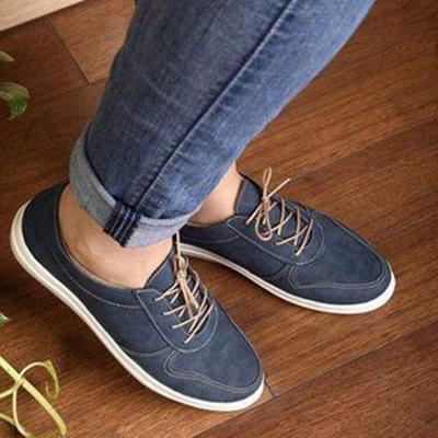 Autumn Women's Shoes Fashion Casual Lace-up Flats New Retro Flat Comfortable Lightweight Women Shoes