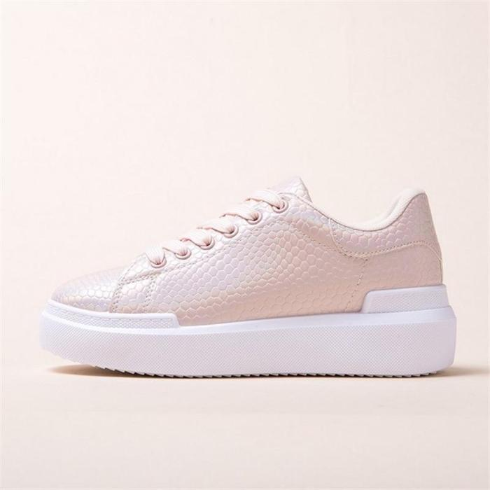 Fashion Sneakers Women's Spring Autumn Thick Bottom Casual Shoes Flat Platform Walking White Sneakers