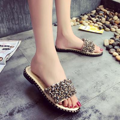 Flat Women's Cool Slippers Summer New Women's Sandals Beach Women's Shoes