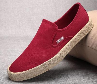 Summer New Canvas Sneakers Shoes Breathable Men's Slip on Braided Sole Fashion Shoes Autumn Men's Loafer Shoes