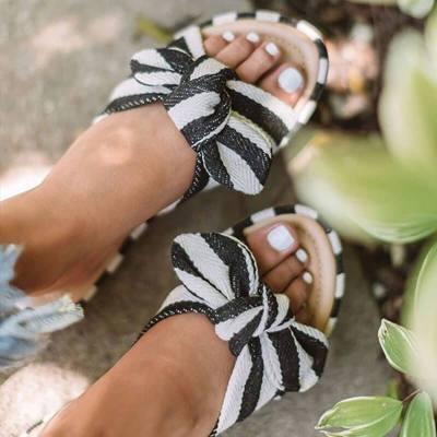 Women Flats Slippers Open Toe Sandals Flat Heel Slippers Female Fashion Ladies