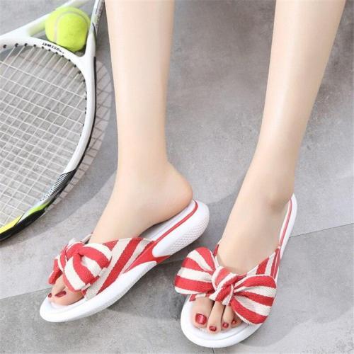 Elastic Slippers Women's Casual Flat Beach Shoes Sandals