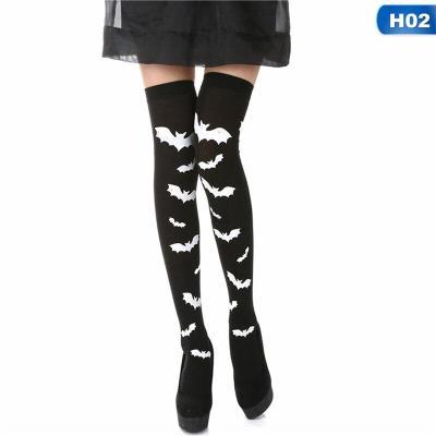 Skeleton Bone Foot Socks Halloween Over The Knee Costume High Stockings Socks