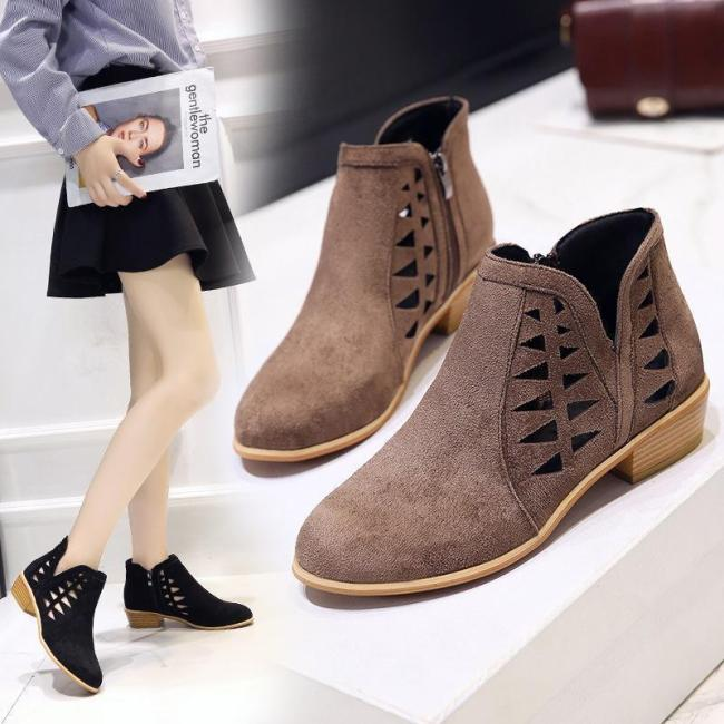 Women's Fashion Chunky Heel  boots