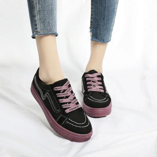 Fashion Women Shoes Casual Ladies Platform Shoe Sneakers Comfortable Vintage Lady Flats Canvas Flat