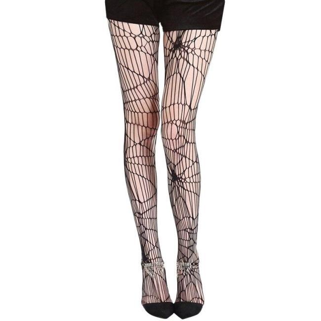 Halloween Gift Spider Web Net Pantyhose Stockings for Women Adult Halloween Costume