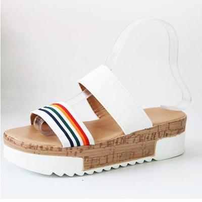 Summer Woman Sllippers Women Wedges Cork Sole Female Casual Solid Shoes Ladies