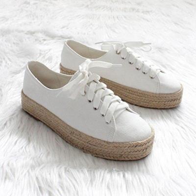 Fashion Leopard Flats Women Shoes Casual Canvas Platform Shoes Woman Sneaker
