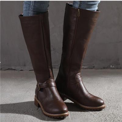 Women Boots Square Heel Platform High Boots
