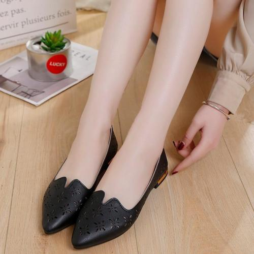 Women's New Fashion Spring Summer Shoes Casual Point Toe Loafers Shallow Work Shoes Ladies Lady Walking Party