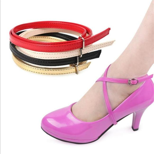 Women Shoelaces High Heels Triangle Adjustable Shoe Belt Ankle Shoe Tie Loose Anti-skid Solid Color Straps Shoes Decoration