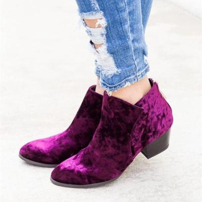 New Boots Women Elastic Ankle Boot Leather Quality Brand Lady Shoes Handmade Botas