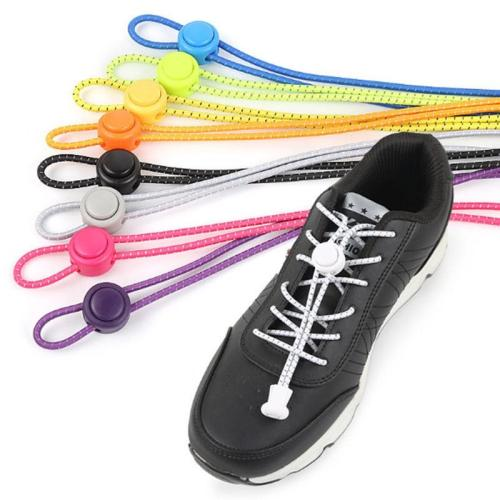 Shoelaces Unisex Elastic Shoe Laces for Men Women All Sneakers Fit Strap Sport Shoes Reflective Buckle Lazy Lock Laces White