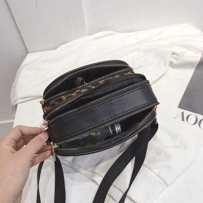Fashion Leopard Print Messenger Bag for Women Mini Bag Crossbody Bag Handbags Female Leather Shoulder Bags