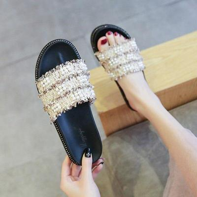 Fashion Platform Slippers Casual Open Toe Flat Beach Slides Sandals