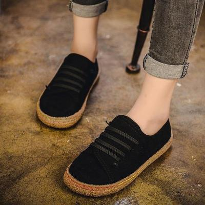 Retro Casual Women Flats Shoes Plus Size Slip On Loafers Women Flat Autumn Summer Sneakers Ladies sapato feminino