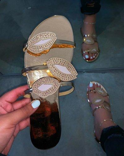 Women Summer Slippers Flat Heel Lips Bling Peep Toe Slides Sexy Fashion Beach Outdoor