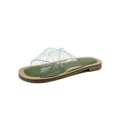 Sandals Summer Cool Women Transparent Flat Women Slippers Outside