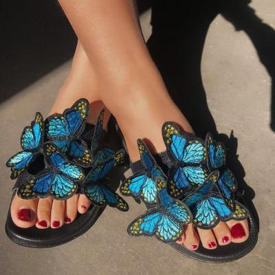 Women Summer Slippers Bow Embroidery Slides Platform PVC Sandals Ladies Flip Flops Beach Sandals Shoes