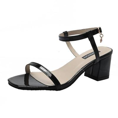 buckle simple fashion women's shoes 2020 summer new women's sandals high-heeled sandals