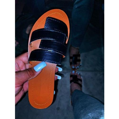 Shoes Summer Outdoor Beach Leisure Comfortable Slippers Fashion Flat Bottom Open Toe Women Sandals