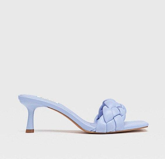 Design Weave Women Slipper Ladies Thin Heels Sandal Open Toe Summer Outdoor Slides female Flip Flop Shoes