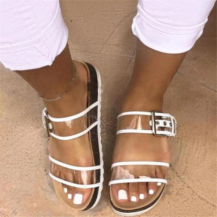 Flip Flop See-Through Slip-On Flat With PVC Slippers
