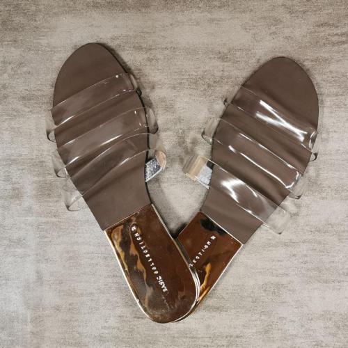 Transparent Ladies Open Toe Summer Slipper Out Wear Beach Shoes Comfort Slides Female Shoes
